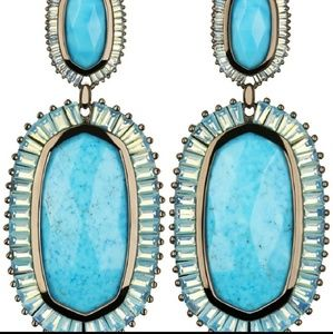 Kendra Scott Turquoise Kaki Earrings